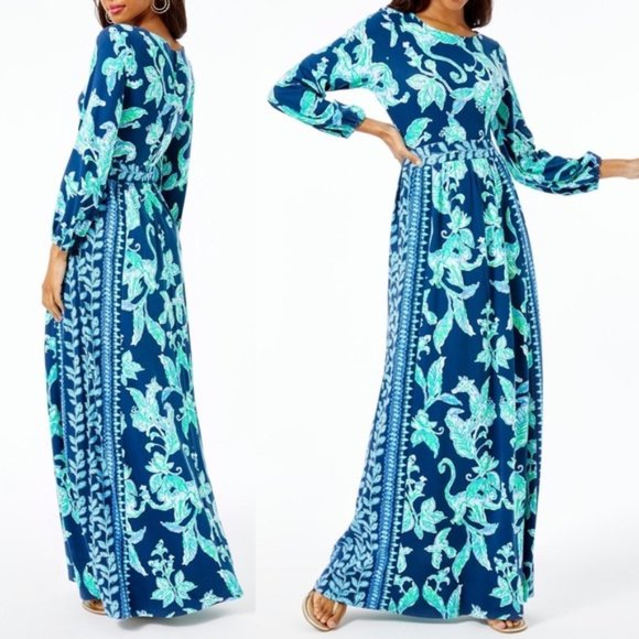 Lilly Pulitzer MICOLE Maxi dress High tide NWT 2